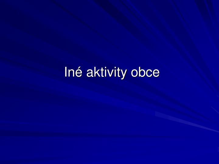 Iné aktivity obce