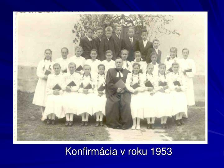Konfirmácia v roku 1953