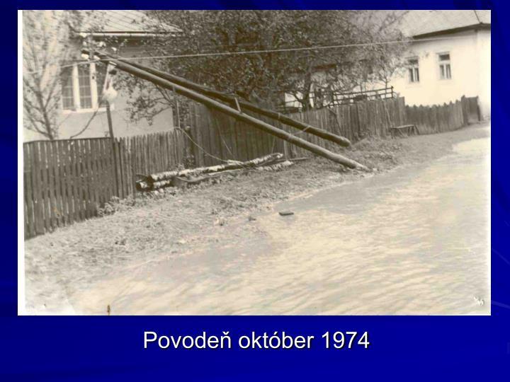 Povodeň október 1974