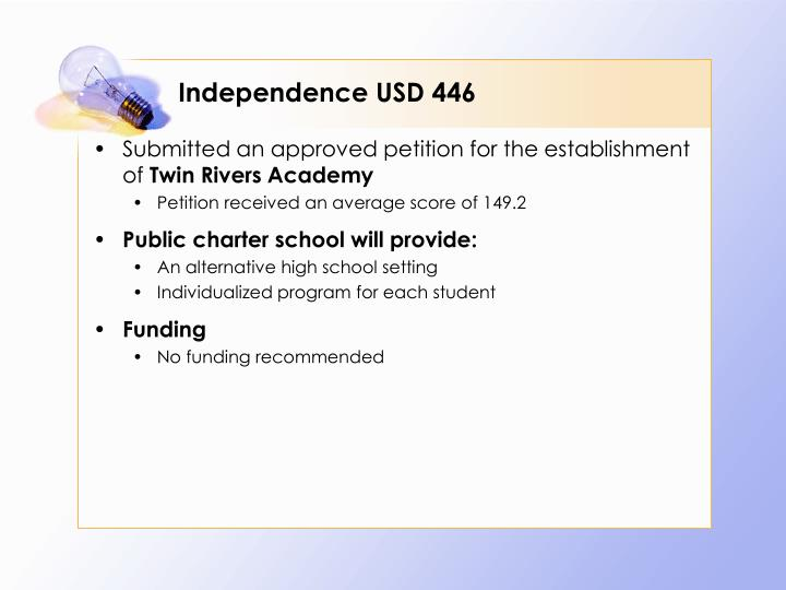 Independence USD 446