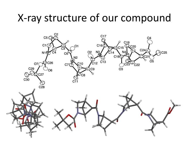 X-ray structure of our compound