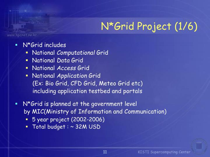 N*Grid Project (1/6)