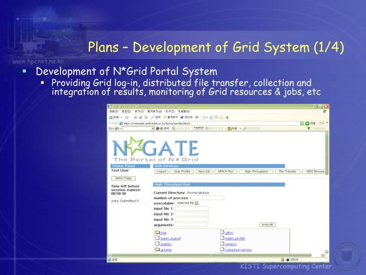 Plans – Development of Grid System (1/4)