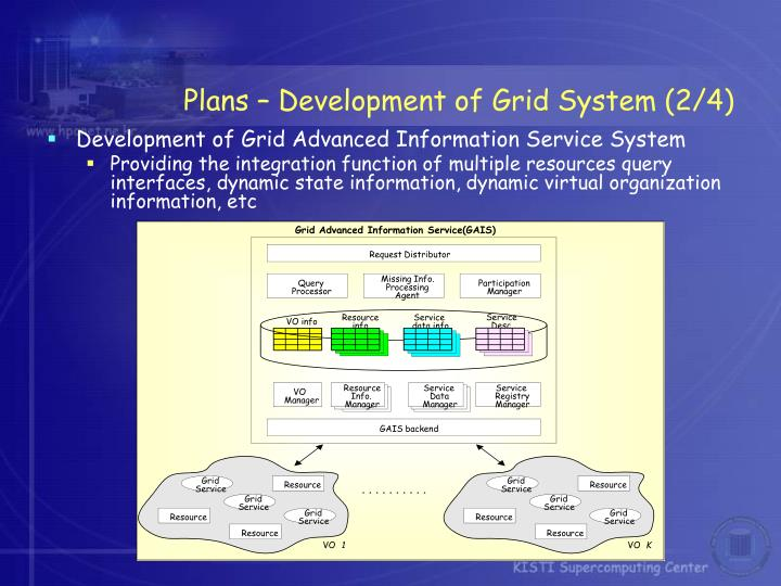 Grid Advanced Information Service(GAIS)