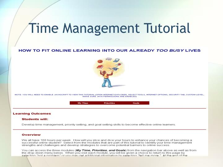 Time Management Tutorial