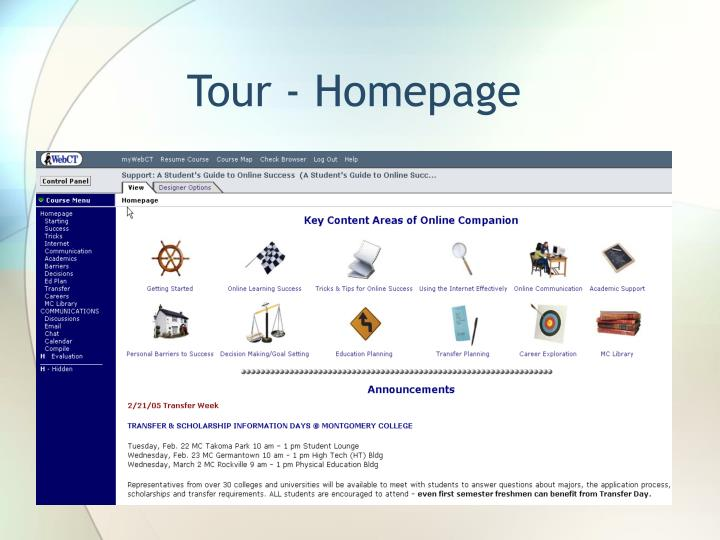 Tour - Homepage