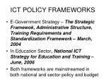 ict policy frameworks