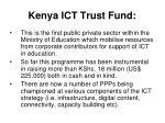 kenya ict trust fund