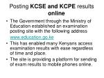posting kcse and kcpe results online