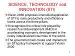 science technology and innovation sti
