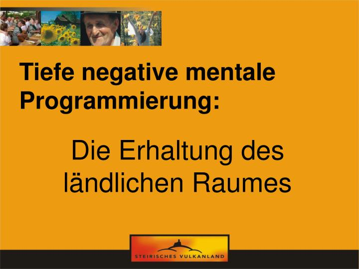 Tiefe negative mentale