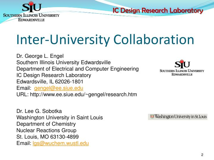 Inter university collaboration