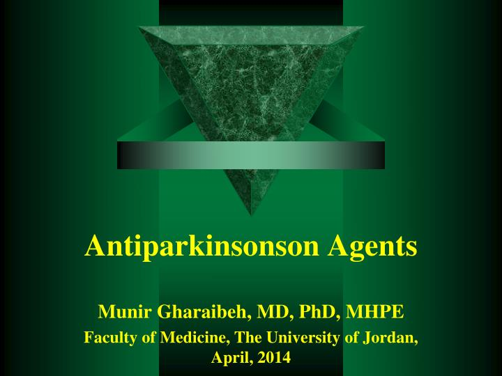antiparkinsonson agents