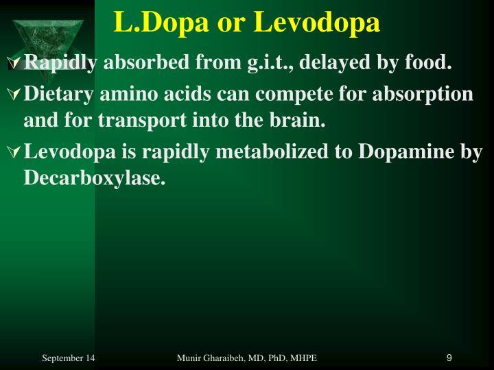 L.Dopa or Levodopa