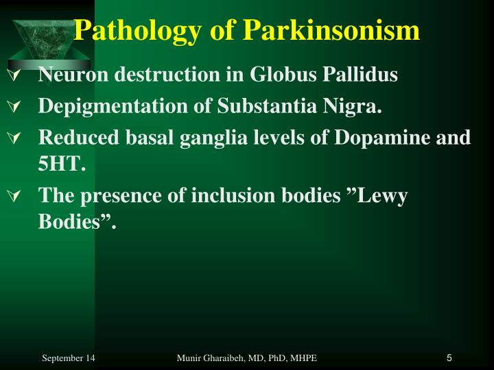 Pathology of Parkinsonism