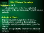 side effects of levodopa1