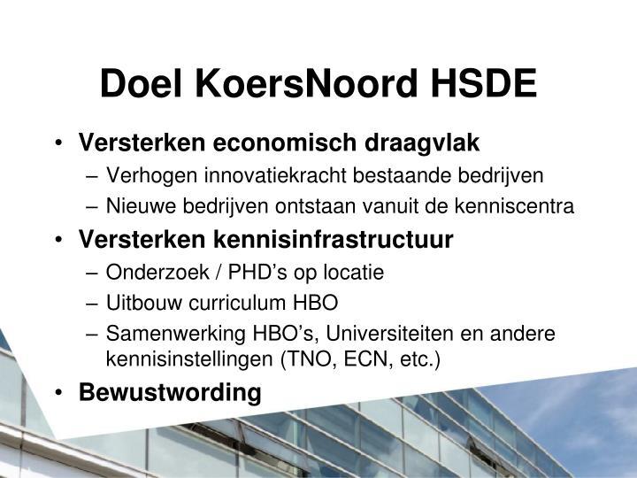 Doel KoersNoord HSDE