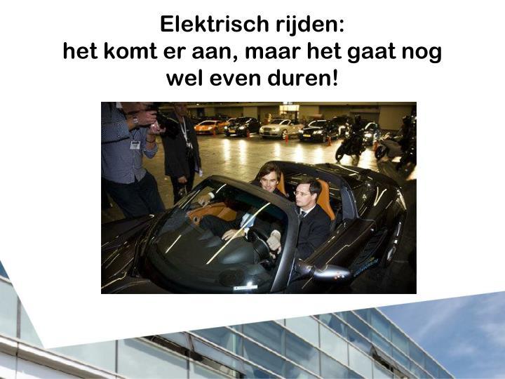 Elektrisch rijden:
