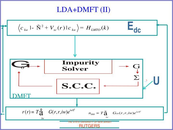 LDA+DMFT (II)
