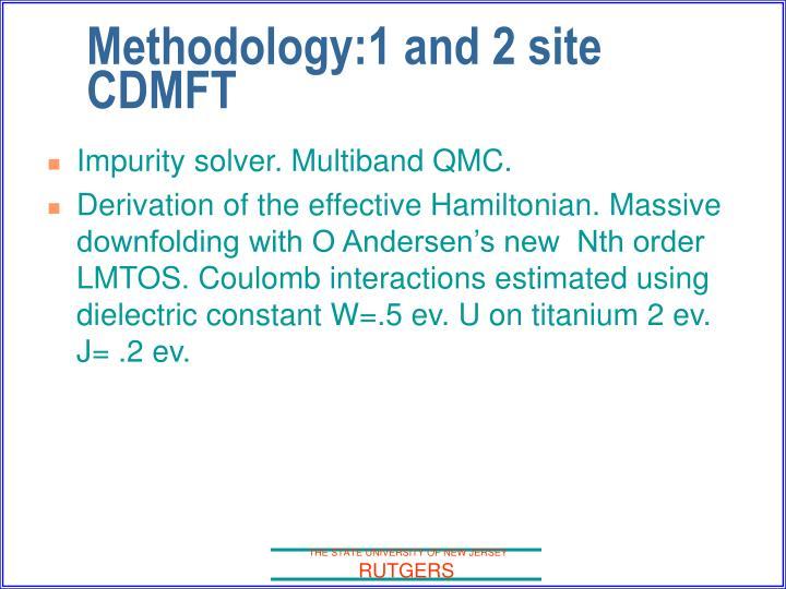 Impurity solver. Multiband QMC.