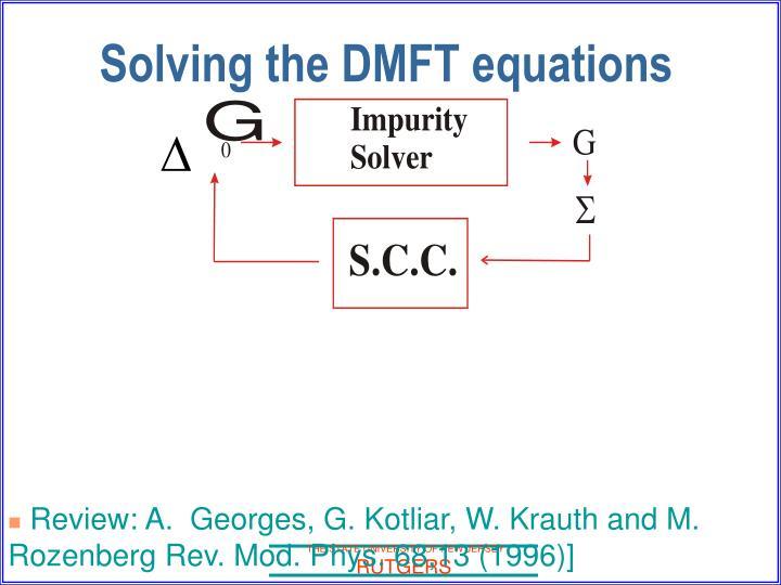 Solving the DMFT equations