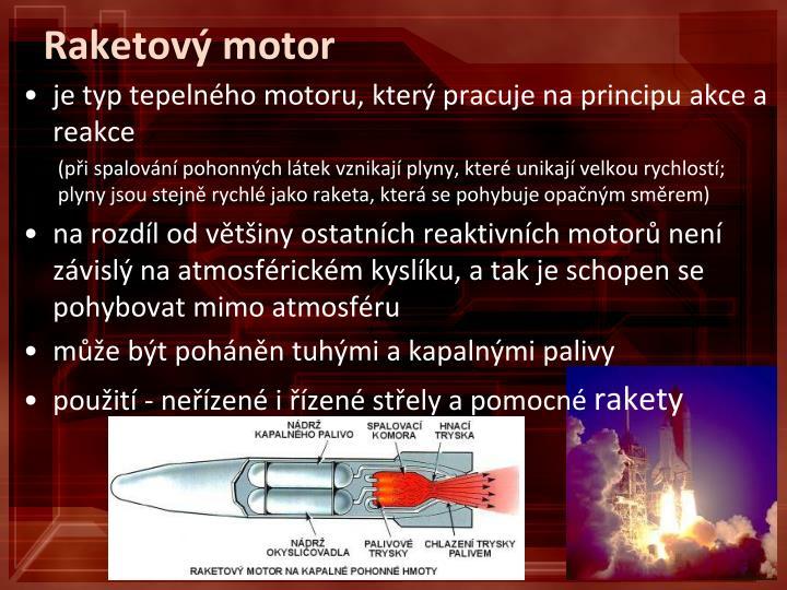 Raketový motor