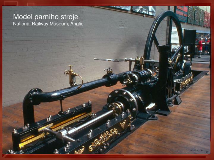 Model parního stroje