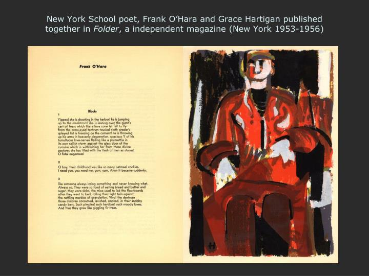 New York School poet, Frank O'Hara and Grace Hartigan published