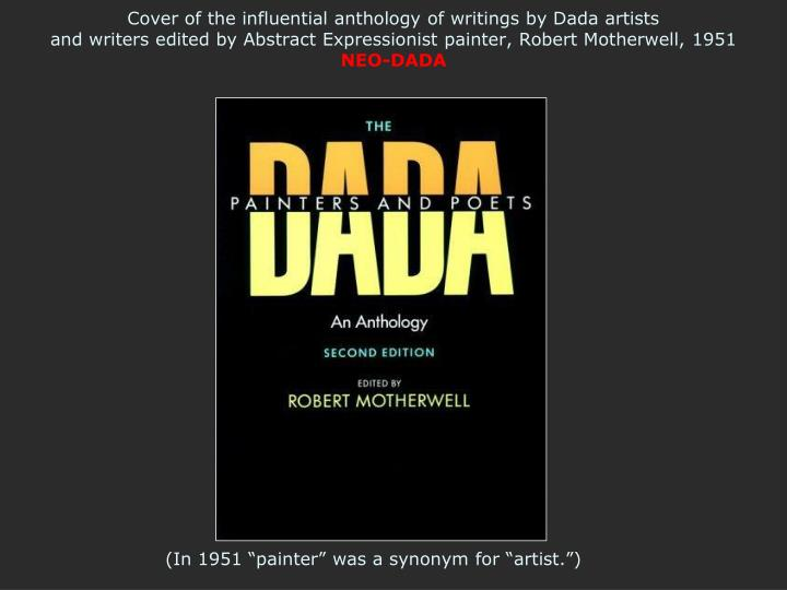 Cover of the influential anthology of writings by Dada artists