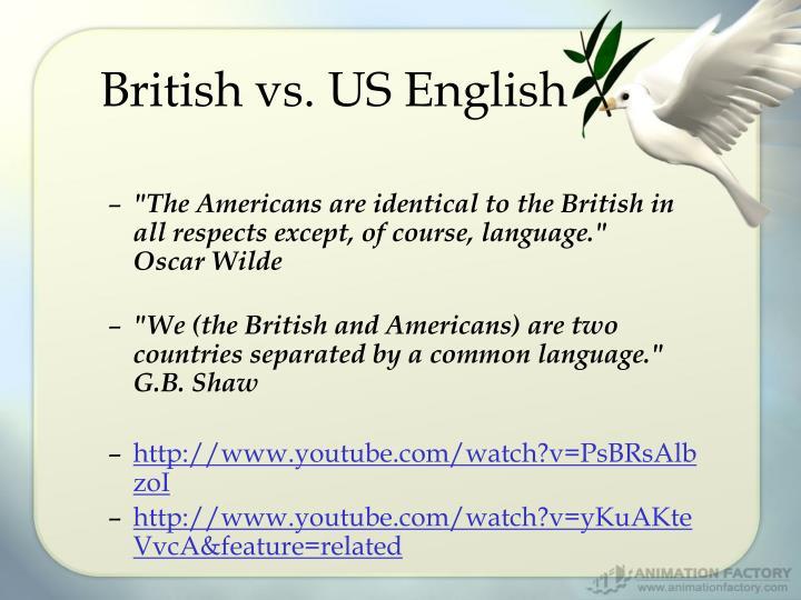 British vs. US English