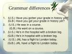 grammar differences