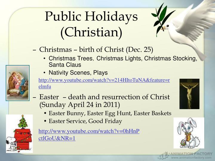 Public Holidays