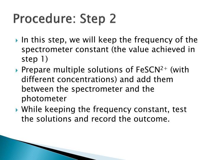 Procedure: Step 2