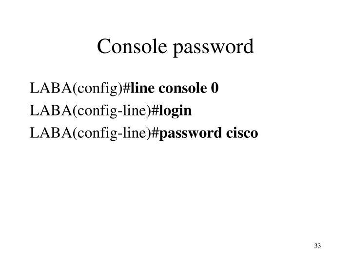 Console password