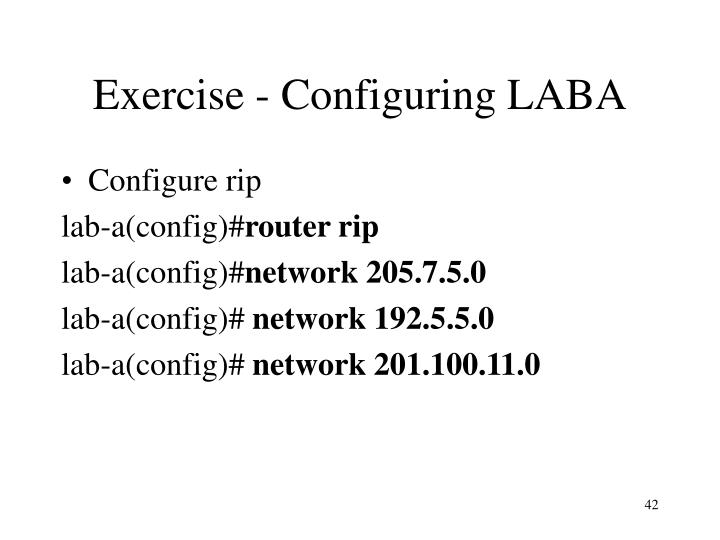Exercise - Configuring LABA