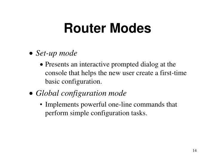 Router Modes