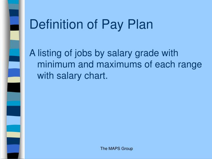 Definition of Pay Plan