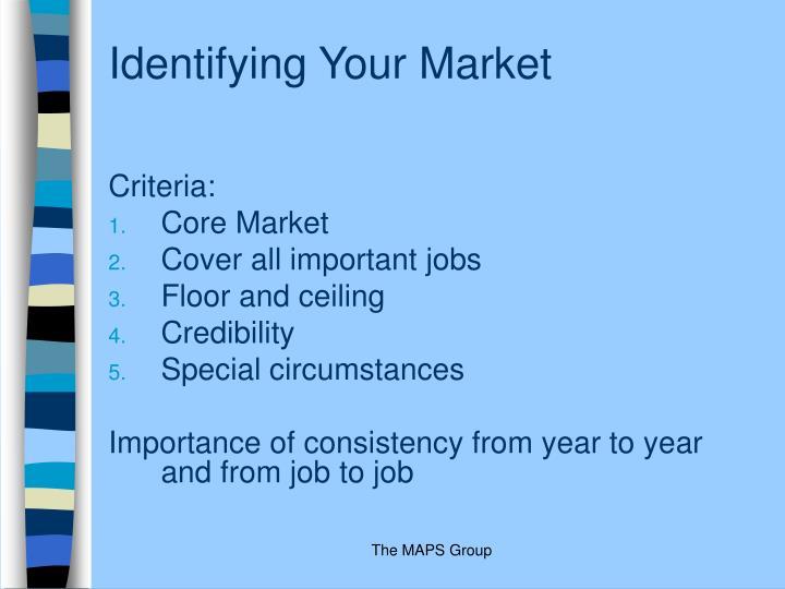Identifying Your Market