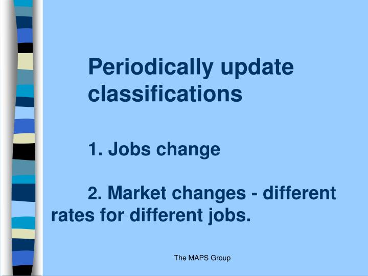 Periodically update classifications