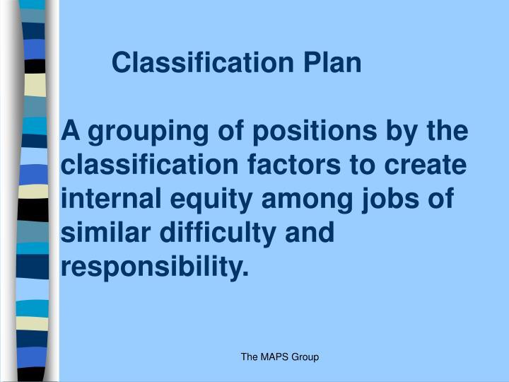 Classification Plan