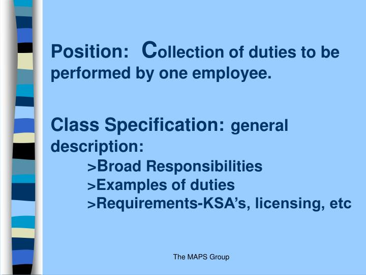 Position: