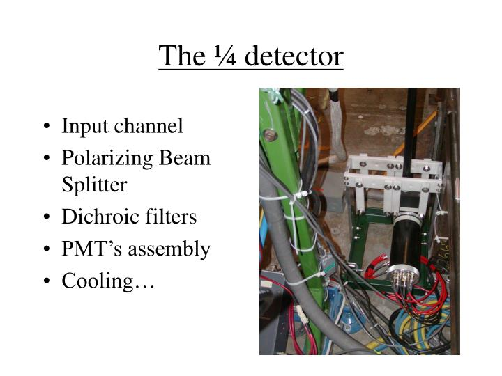 The ¼ detector