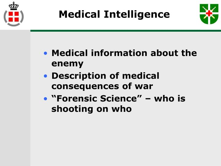 Medical Intelligence