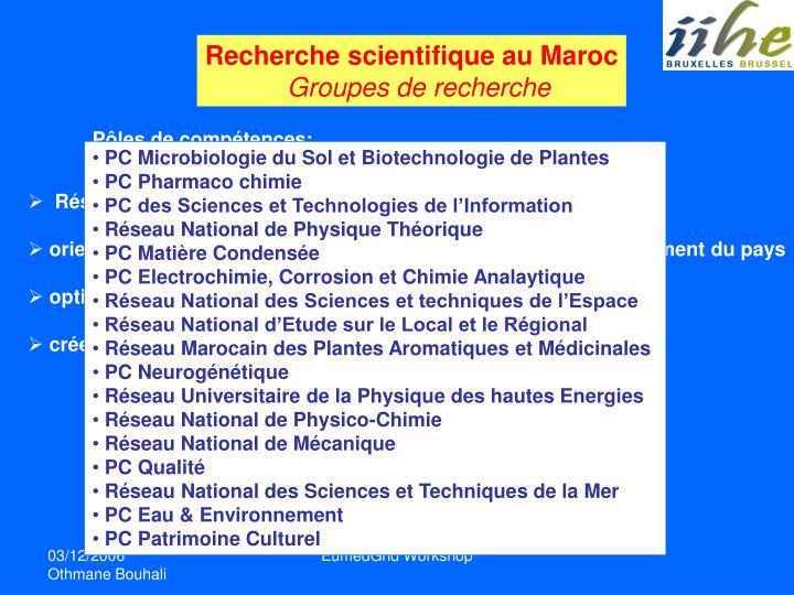 Recherche scientifique au Maroc