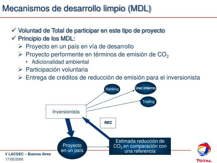 Mecanismos de desarrollo limpio (MDL)