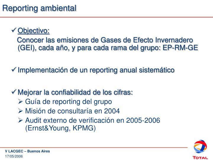 Reporting ambiental