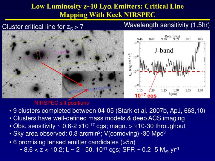 Low Luminosity z~10 Ly