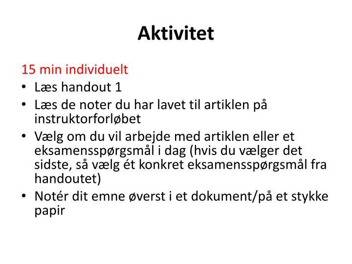 Aktivitet