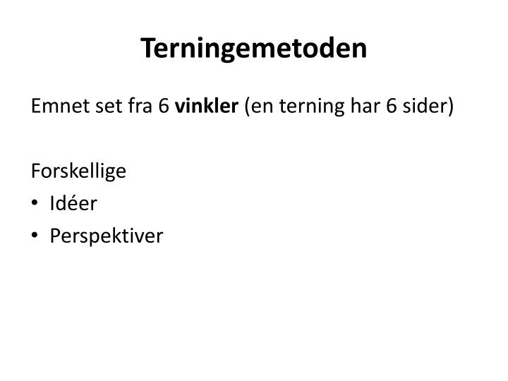 Terningemetoden
