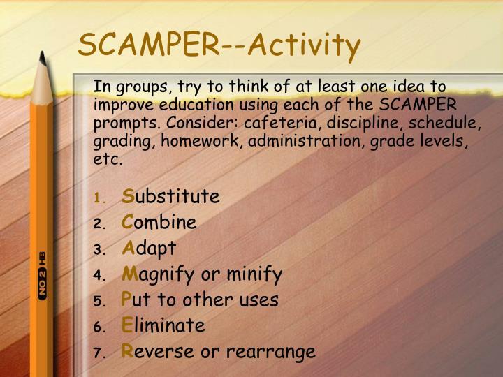 SCAMPER--Activity